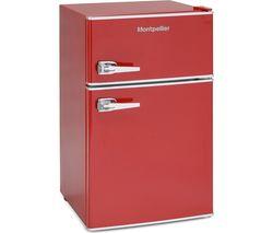 MONTPELLIER MAB2030R Undercounter Fridge Freezer - Red