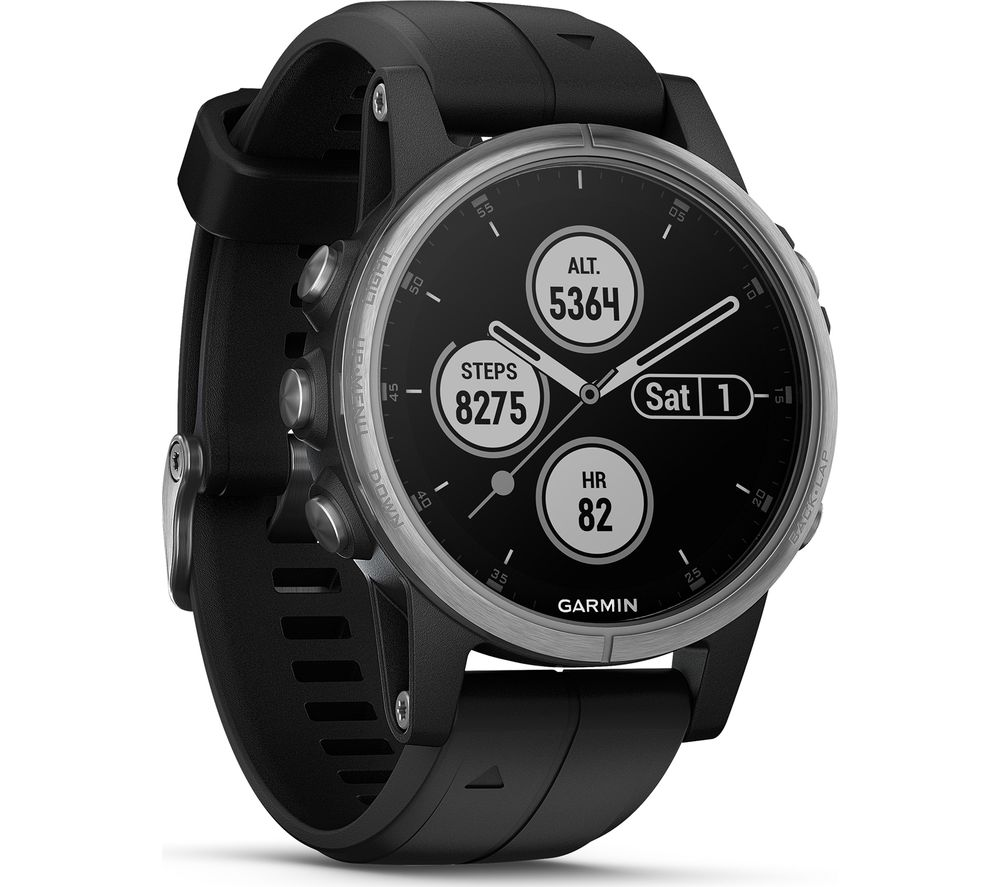 Buy Garmin Fenix 5s Plus Black Silver Free Delivery Currys