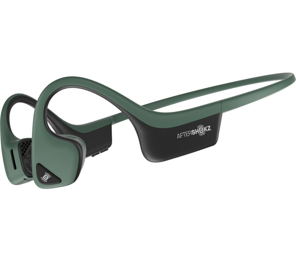 Image of AFTERSHOKZ Trekz Air Wireless Bluetooth Headphones - Forest Green, Green