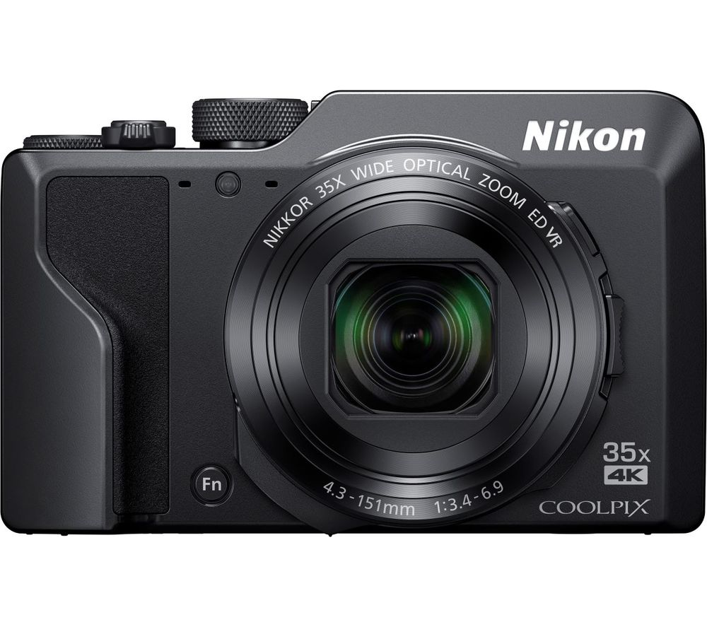 NIKON COOLPIX A1000 Superzoom Compact Camera - Black, Black