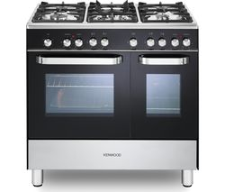 KENWOOD CK405-1 90 cm Dual Fuel Range Cooker – Black & Chrome