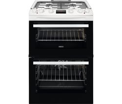 ZCK66350WA 60 cm Dual Fuel Cooker - White