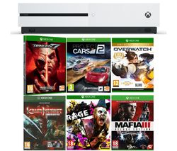 MICROSOFT Xbox One S, Tekken 7, Project Cars 2, Rage 2, Mafia III Deluxe Edition, Overwatch & Killer Instinct Combo Breaker Pack Bundle