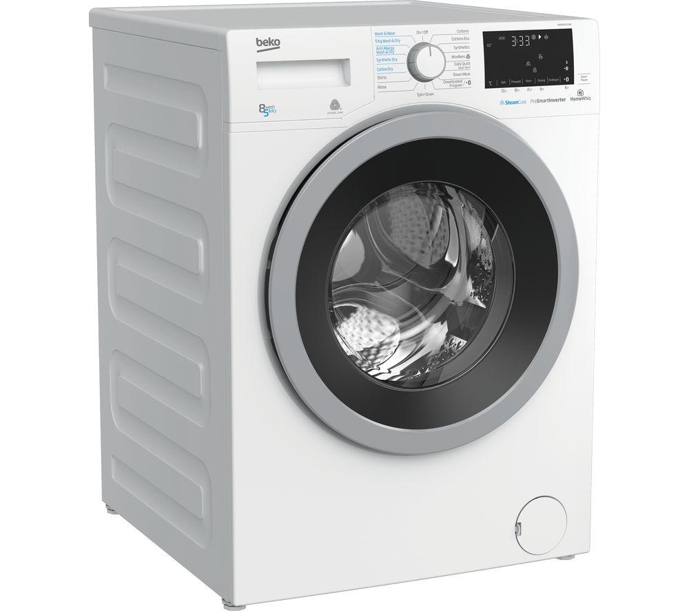 Pro WDX850130W Bluetooth 8 kg Washer Dryer - White, White