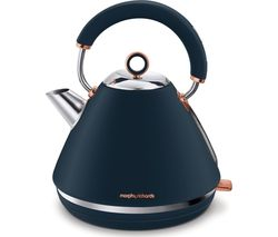 Rose Gold Collection Accents 102039 Traditional Kettle - Blue & Rose Gold