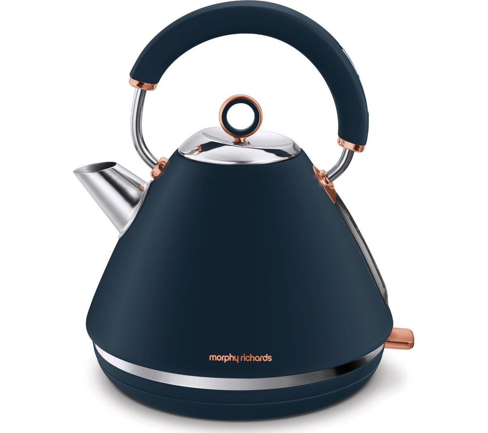 MORPHY RICHARDS Rose Gold Collection Accents 102039 Traditional Kettle - Blue & Rose Gold