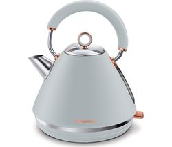 Rose Gold Collection Accents 102040 Traditional Kettle - Grey & Rose Gold