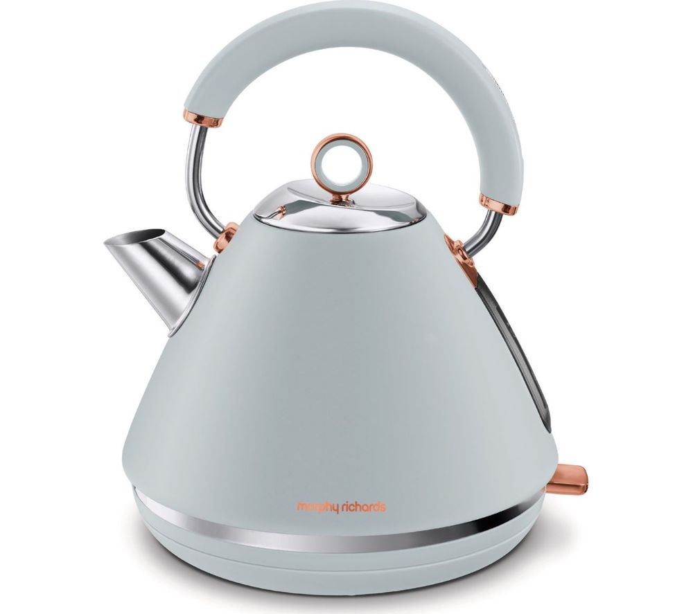 MORPHY RICHARDS Rose Gold Collection Accents 102040 Traditional Kettle - Grey & Rose Gold