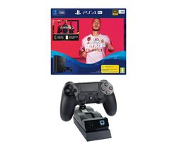 SONY Playstation 4 Pro with FIFA 20 & Twin Docking Station Bundle - 1 TB