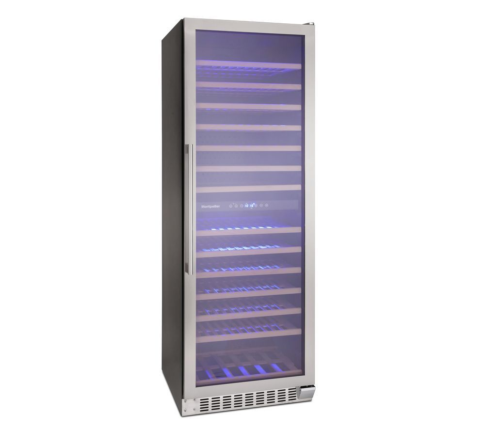 MONTPELLIER WS166SDX Wine Cooler - Stainless Steel, Stainless Steel