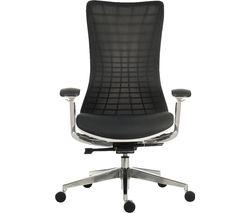 Quantum Mesh Executive Chair - White & Black