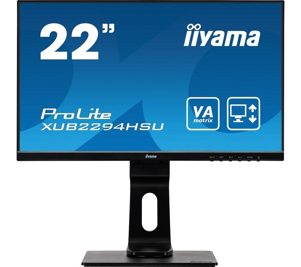 Image of IIYAMA ProLite XUB2294HSU-B1 22' Full HD LCD Monitor - Black, Black