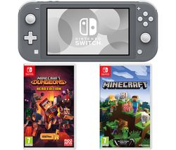 Switch Lite with Minecraft & Minecraft Dungeons Bundle - Grey