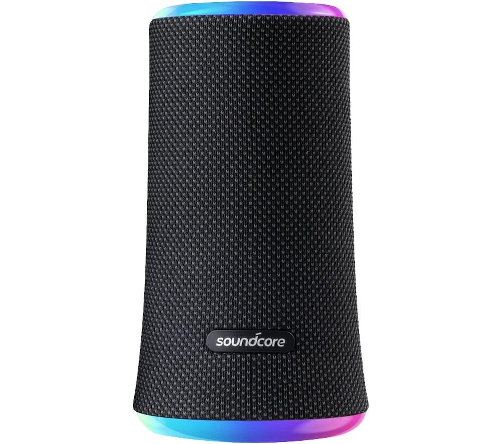 Image of SOUNDCORE Flare 2 Portable Bluetooth Speaker - Black, Black