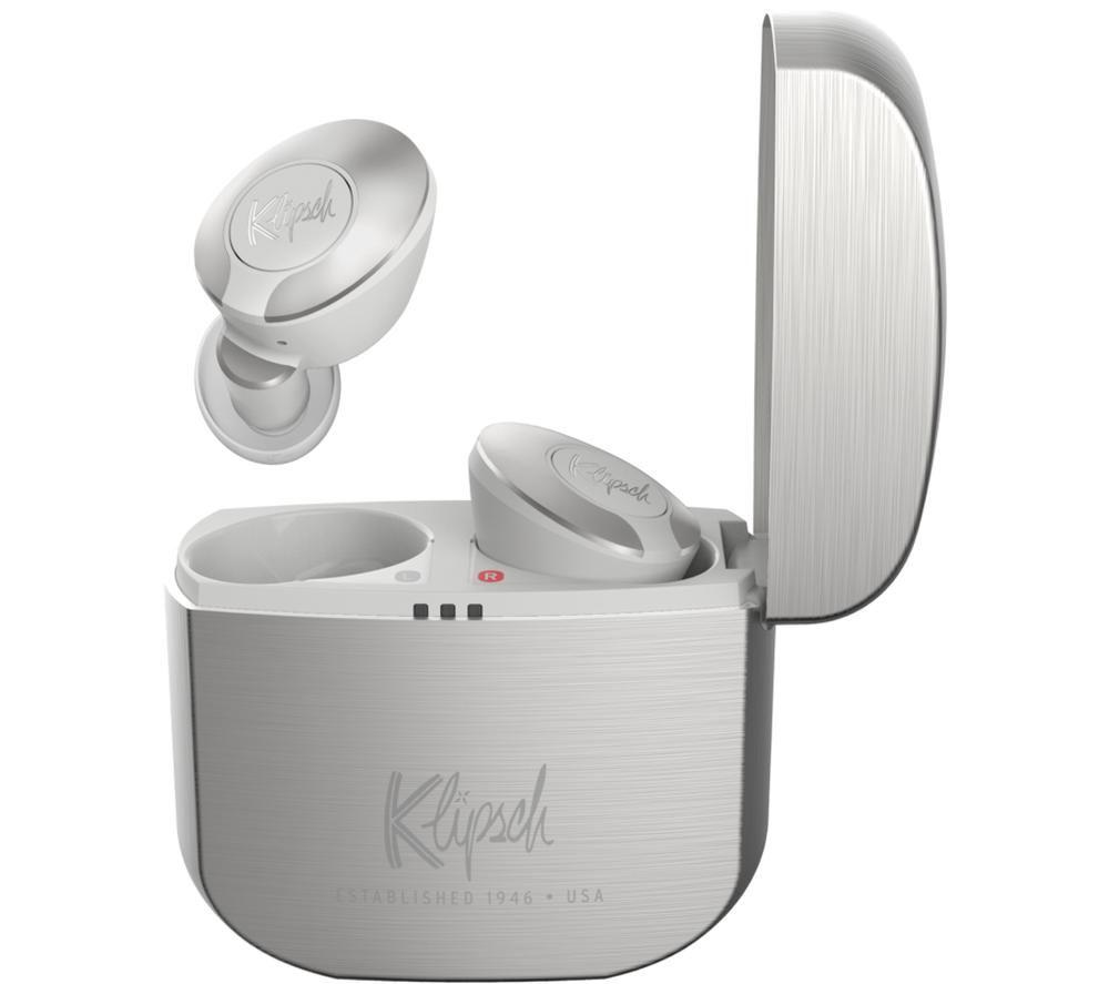 KLIPSCH T5 II Wireless Bluetooth Earphones - Silver