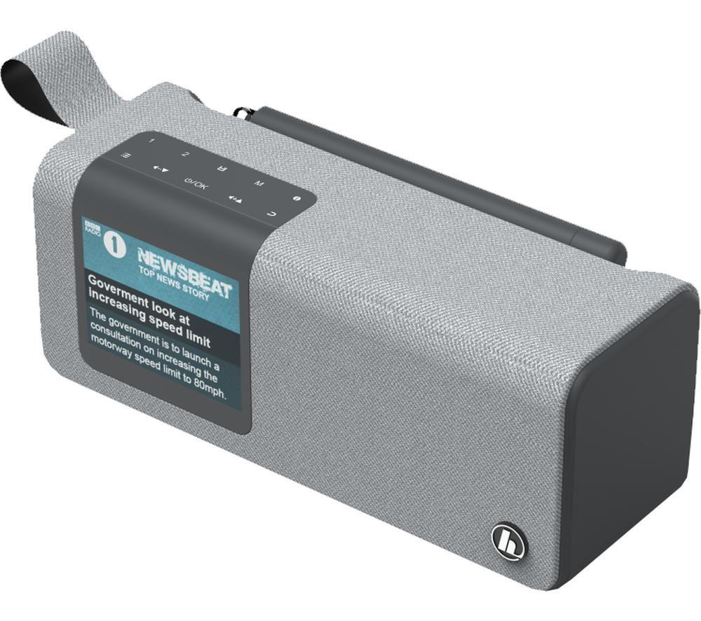 Image of HAMA DR200BT Portable DABﱓ Bluetooth Radio - Grey, Grey
