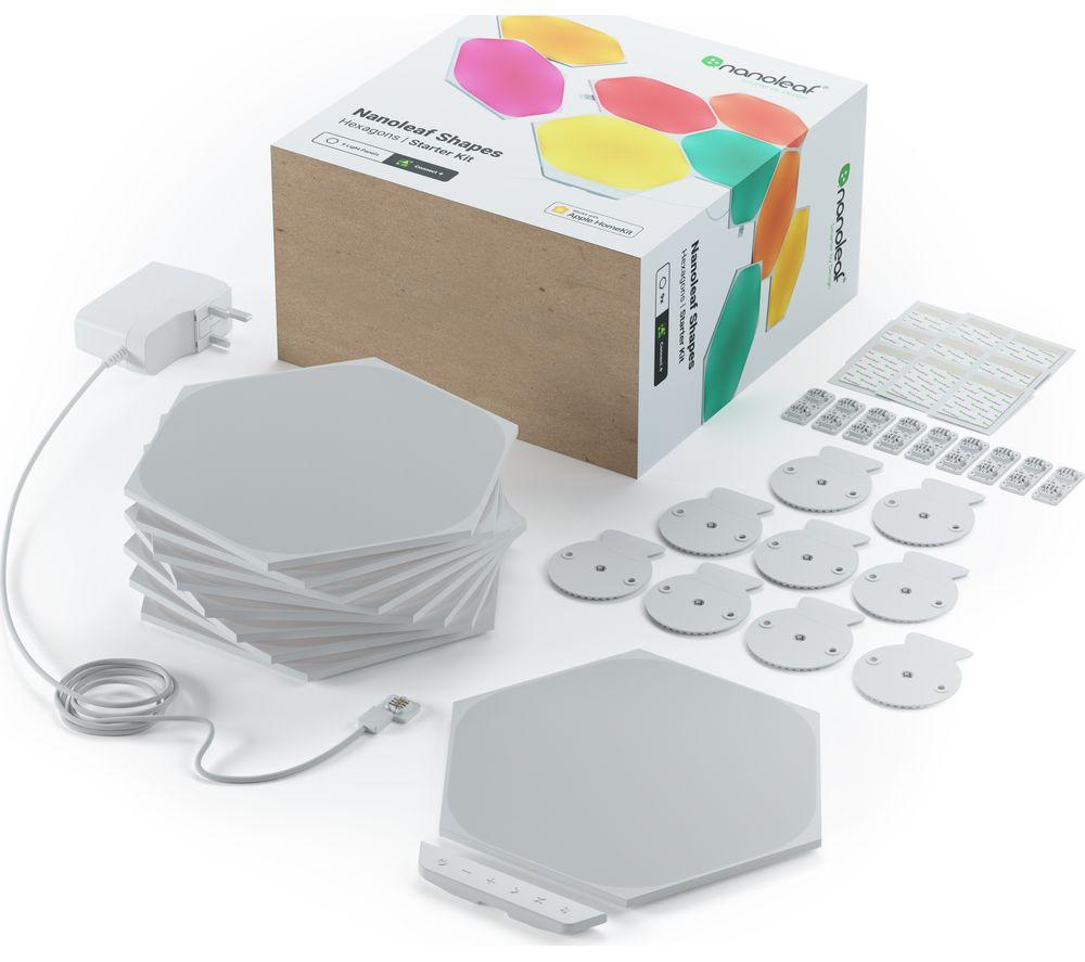 NANOLEAF Shapes Hexagon Smart Lights Starter Kit - Pack of 9