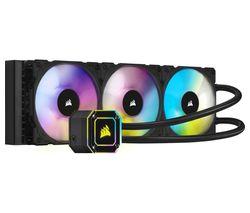 iCUE H150i ELITE CAPELLIX Liquid 360 mm CPU Cooler - RGB LED