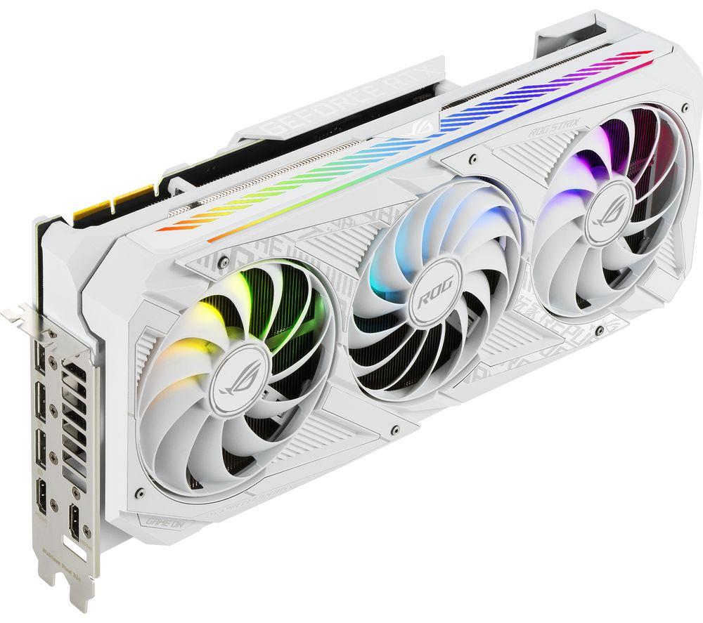 ASUS GeForce RTX 3090 24 GB ROG Strix WHITE Graphics Card