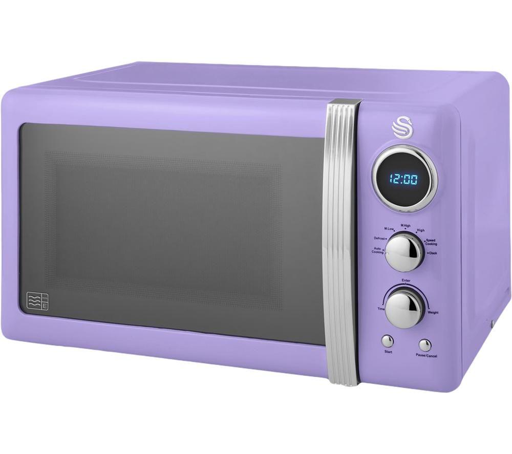 SWAN Retro SM22030PURN Solo Microwave - Purple, Purple