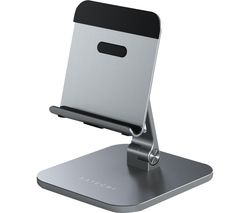 Aluminium Desktop iPad & Tablet Stand - Silver & Black