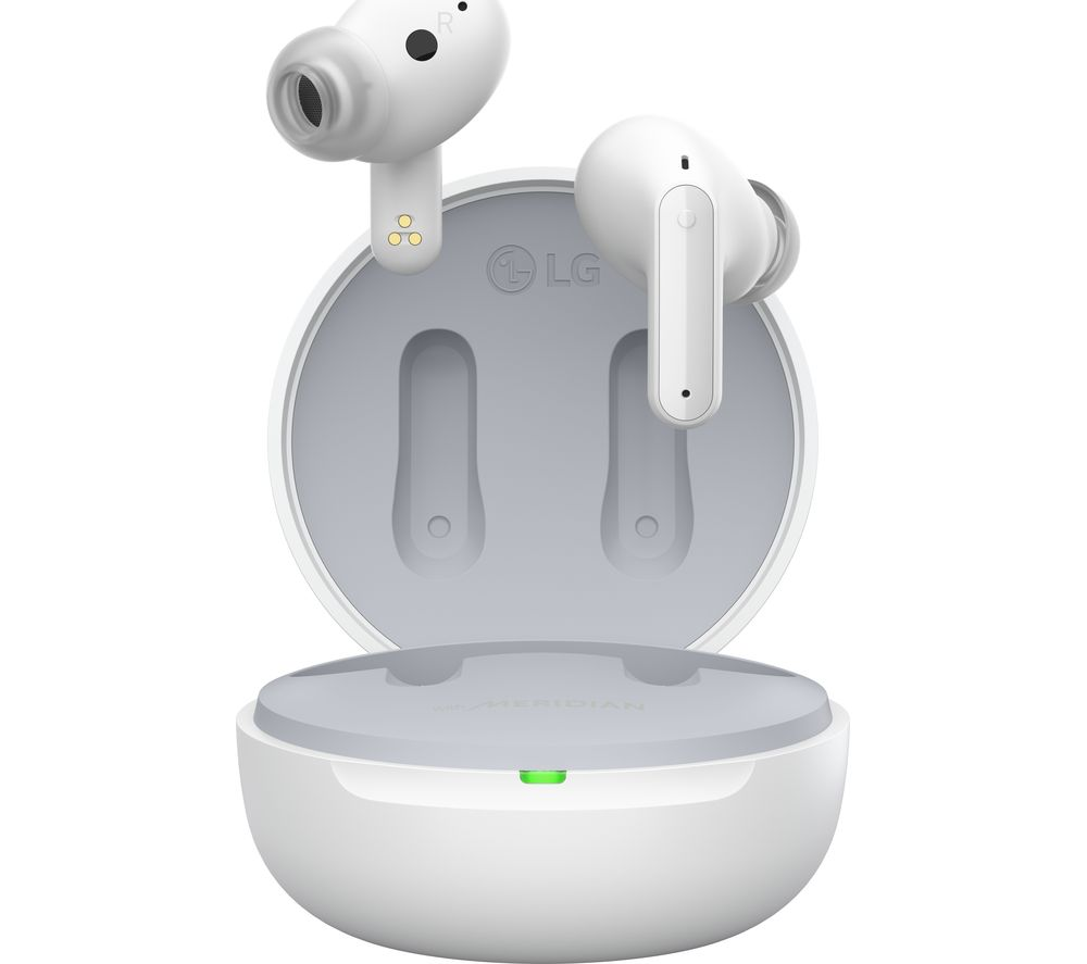LG TONE Free UFP5 Wireless Bluetooth Noise-Cancelling Earbuds - White