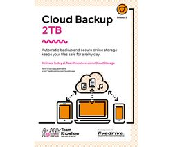 Cloud Backup - 2 TB, 1 year