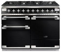 RANGEMASTER Elise 110 Dual Fuel Range Cooker - Black & Chrome