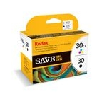 KODAK 30 Series Tri-colour & Black Ink Cartridge - Twin Pack
