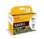 KODAK 30 Series Tri-colour & Black Ink Cartridge - Twin Pack