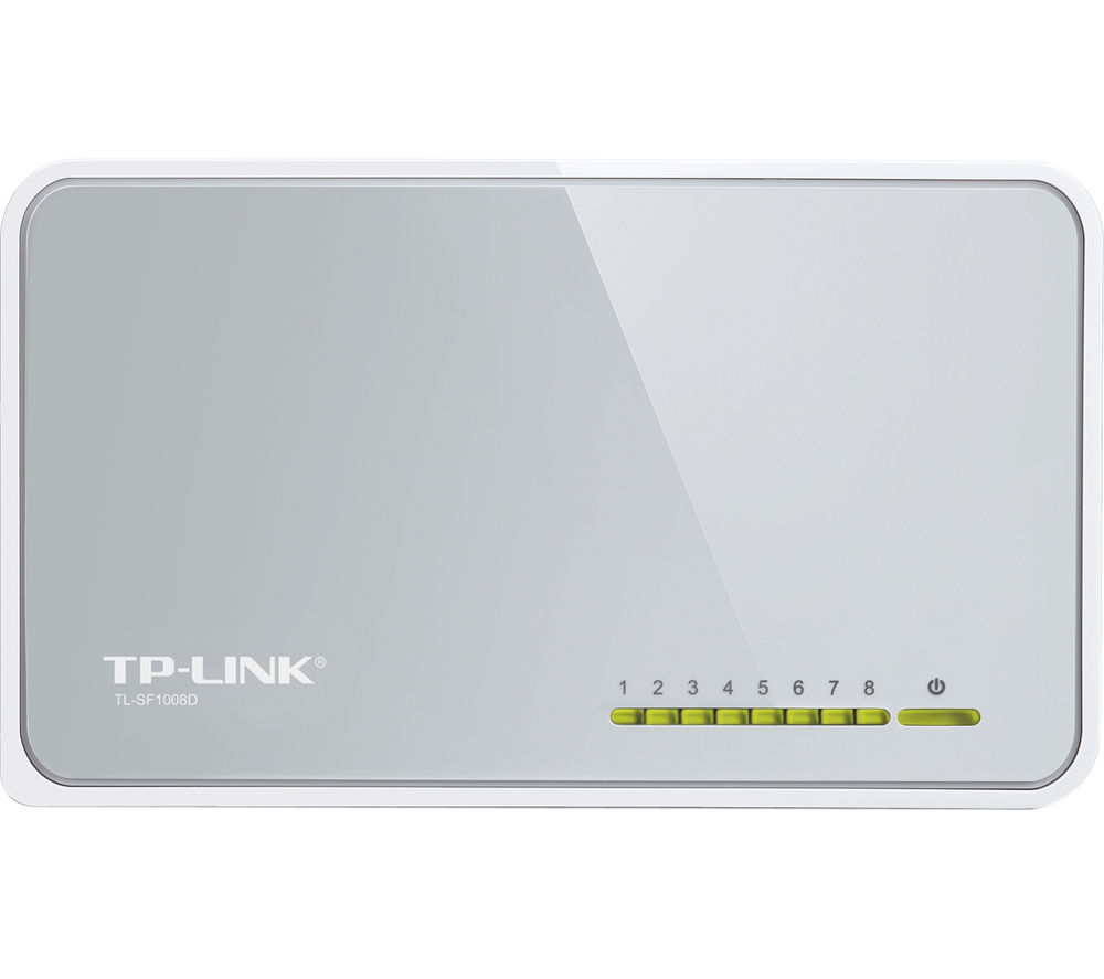 TP-LINK TL-SF1008D 8-Port Ethernet Switch - White