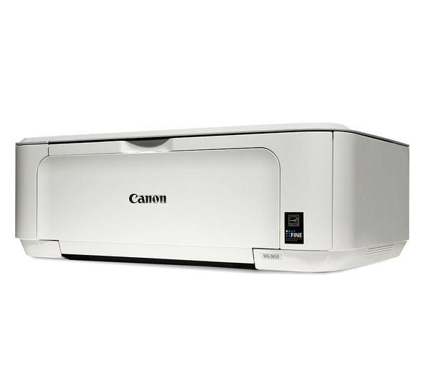 CANON PIXMA MG3650 All-in-One Wireless Inkjet Printer - White
