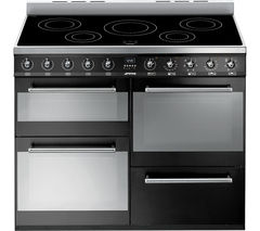SMEG Symphony SYD4110IBL 110 cm Electric Induction Range Cooker - Black & Stainless Steel