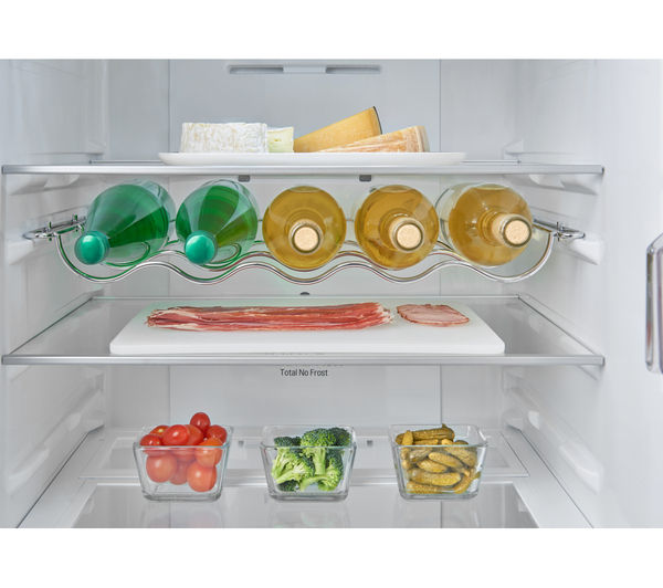refrigerator racks. lg gbb60pzgfb 70/30 fridge freezer - shine steel refrigerator racks r