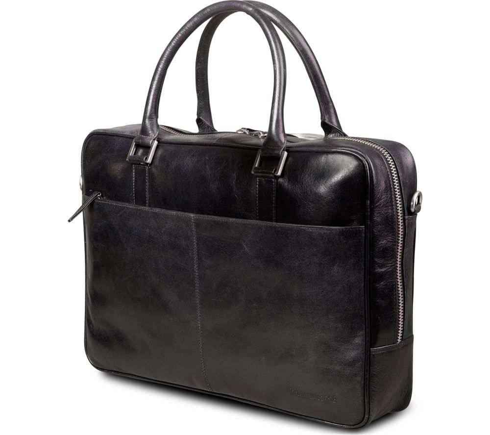 "DBRAMANTE Amalienborg 16"" Laptop Leather Bag - Black"