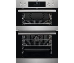 AEG DEB331010M Electric Double Oven - Stainless Steel