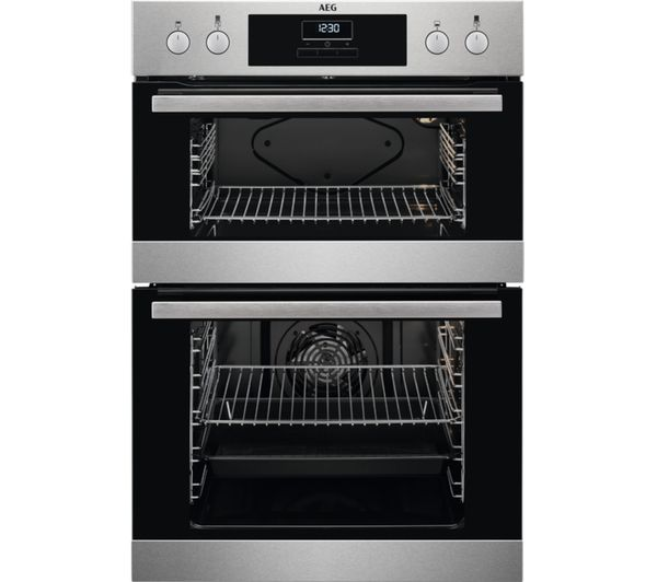 Image of AEG DEB331010M Electric Double Oven - Stainless Steel