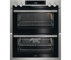 AEG SurroundCook DUE431110M Electric Double Oven - Stainless Steel & Black