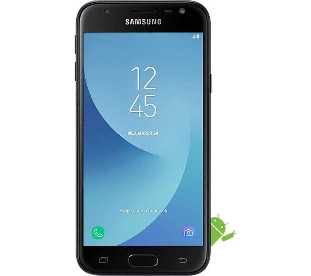 buy samsung galaxy j3 2017 16 gb black free delivery. Black Bedroom Furniture Sets. Home Design Ideas