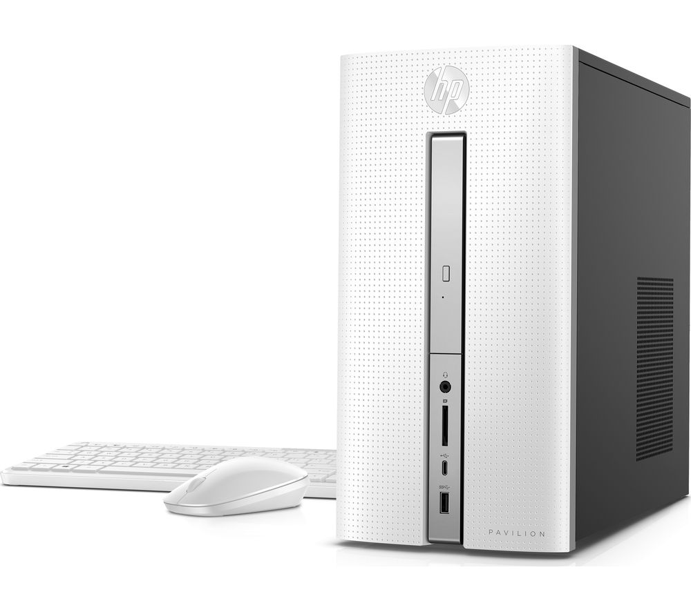 HP Pavilion 570-p068na Desktop PC - White