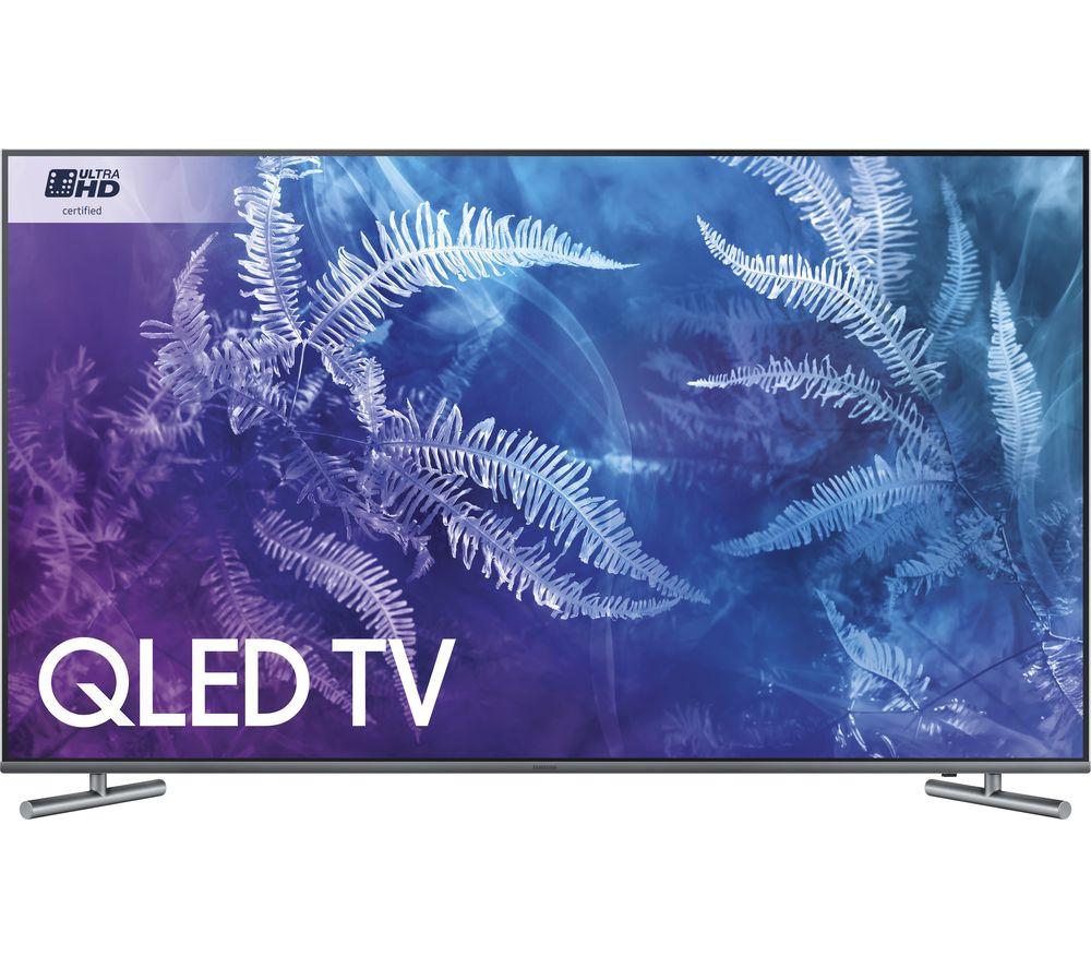"Image of 65"" SAMSUNG QE65Q6F Smart 4K Ultra HD HDR QLED TV, Red"