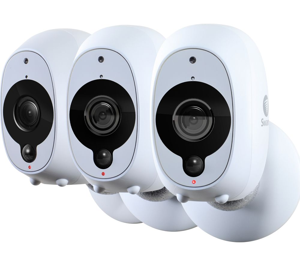 SWANN SWWHD-INTCAMPK3-UK Smart 1080p Full HD Wireless Security Cameras - Triple Pack