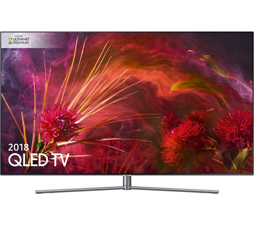 "55""  SAMSUNG QE55Q8FNATXXU Smart 4K Ultra HD HDR QLED TV, Gold"