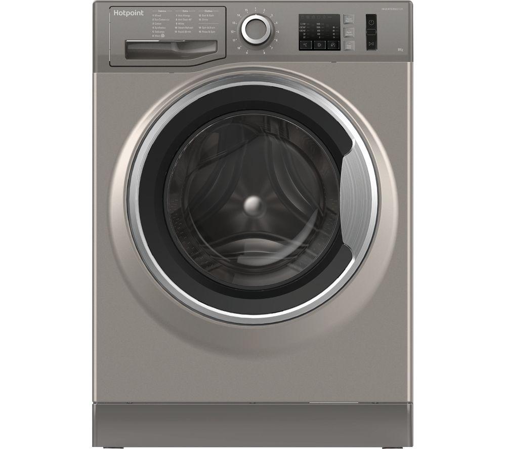 HOTPOINT NM10 844 GS 8 kg 1400 Spin Washing Machine - Graphite