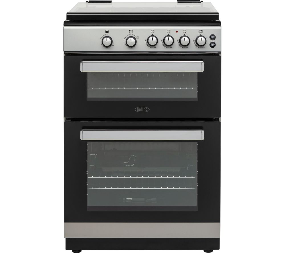 BELLING FSG608Dc 60 cm Gas Cooker - Silver & Black