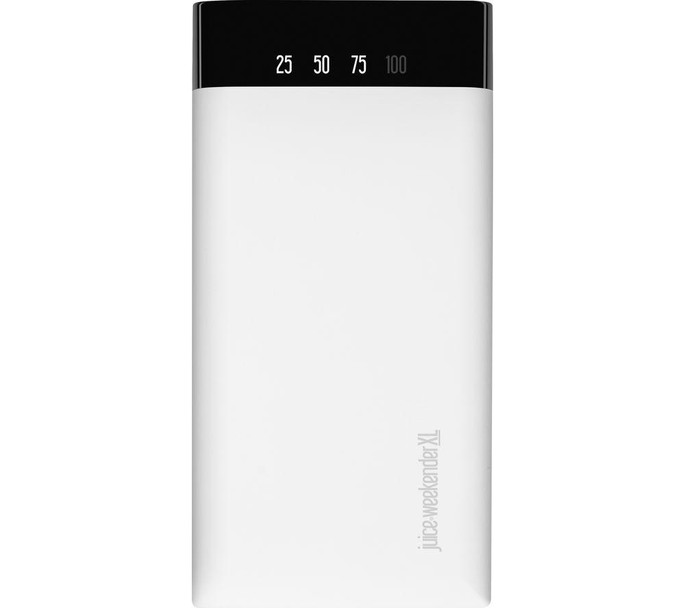 JUICE Weekender XL Portable Power Bank - White