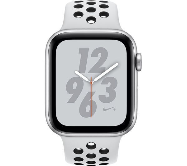 Buy APPLE Watch Series 4 Nike+ - Platinum & Black Sports