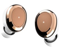 DEAREAR Oval Wireless Bluetooth Headphones - White & Gold