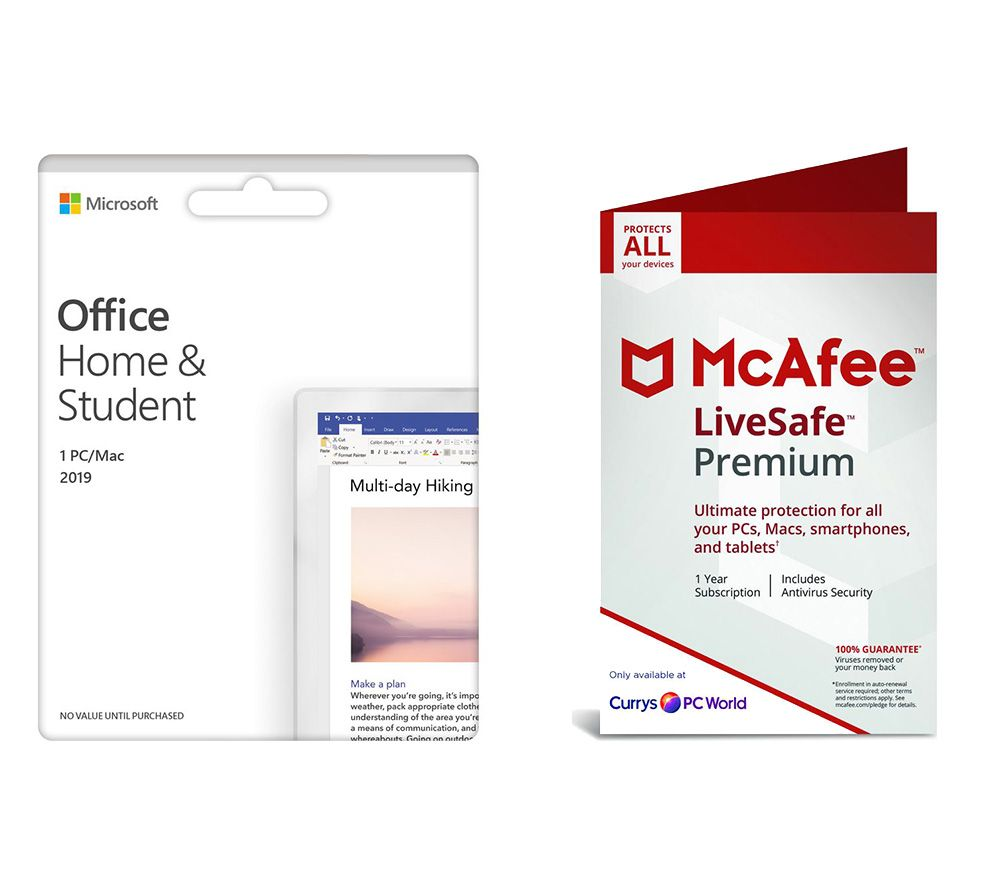 MICROSOFT Office Home & Student 2019 & LiveSafe Premium 2019 Bundle