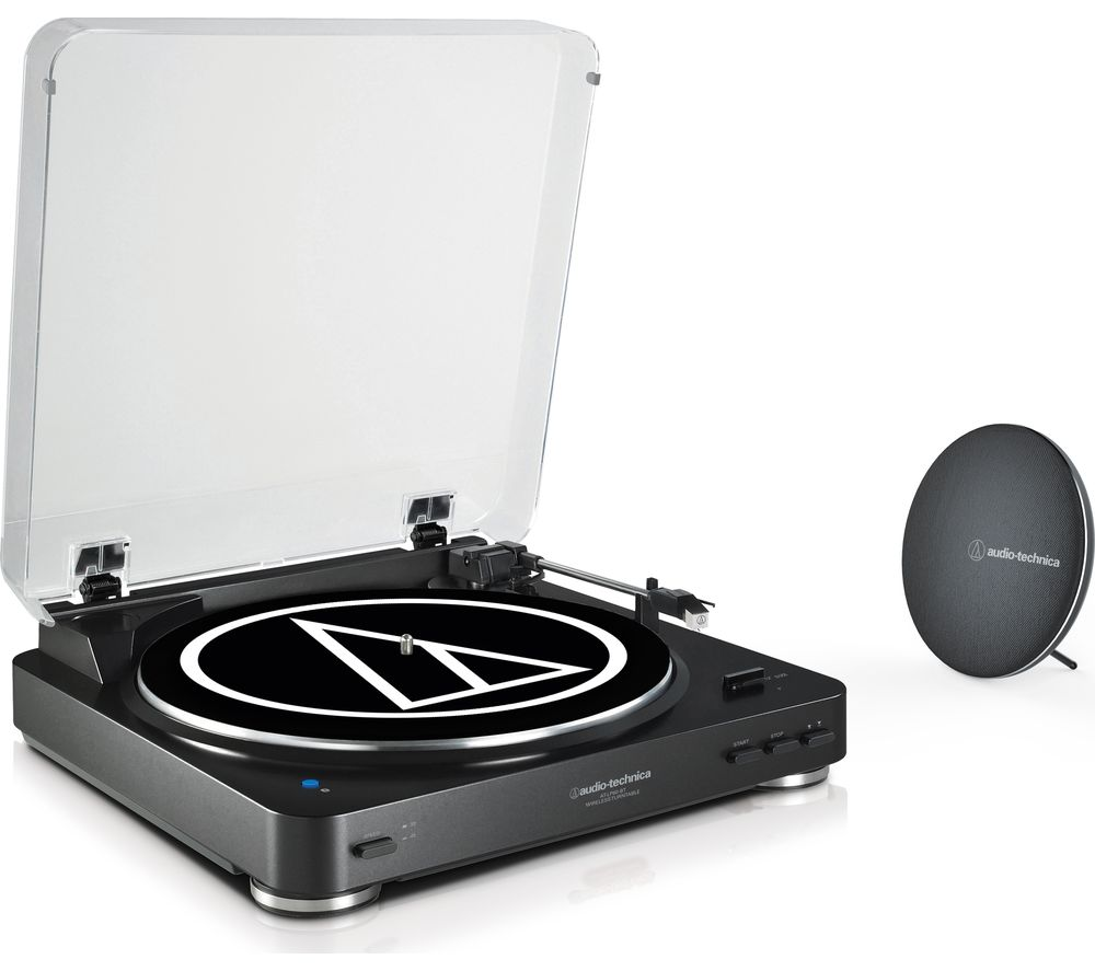 AUDIO TECHNICA AT-LP60SPBT Belt Drive Bluetooth Turntable with Bluetooth Speaker - Black